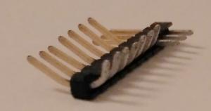 10er Stiftleiste gebogen